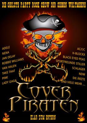 Poster der Partyband Coverpiraten